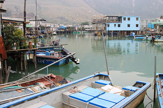 Waterway in the Tai O fishing village, Hong Kong
