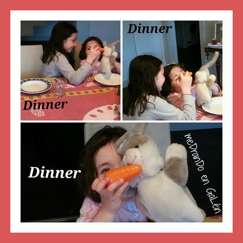 Cayetana, Carolina & Robby having dinner