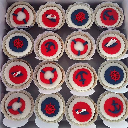 #marinthemedcupcakes#cupcakes by l'atelier de ronitte