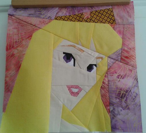 Paper Pieced Aurora (Sleeping Beauty)