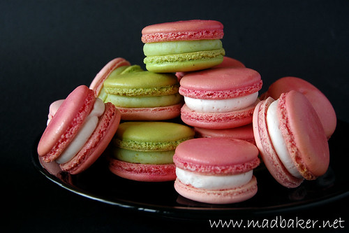 Montebello and Strawberry Macarons