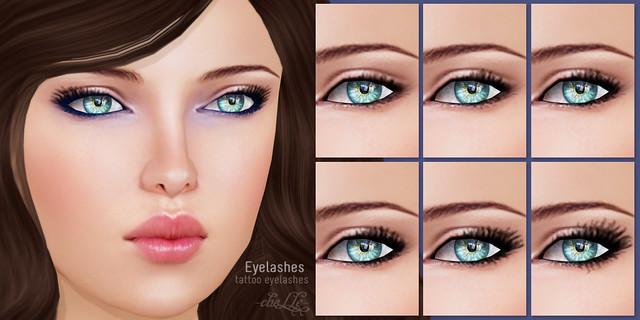 cheLLe - Eyelashes (tattoo)