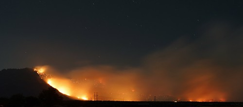 arizona night forest landscape fire sony flames alpha doce prescott wildfire a65