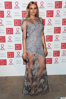 Diane Kruger Sheer Dress Celebrity Style Women's Fashion