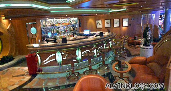 One of the bars on the ship