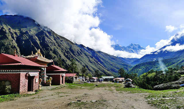 Everest Base Camp Trek - picturesque Tengboche Village