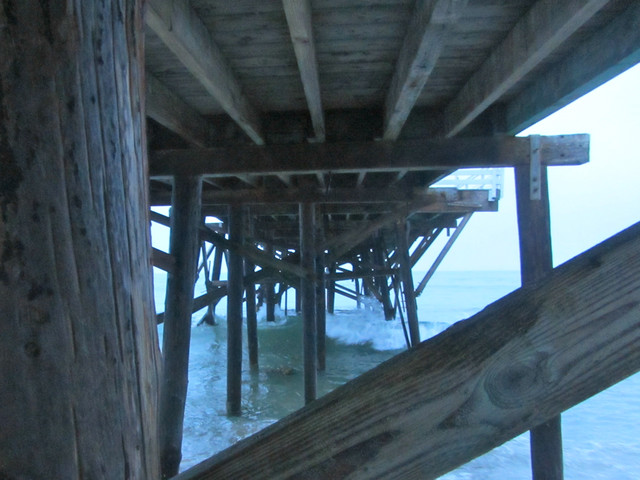 under the Cove pier