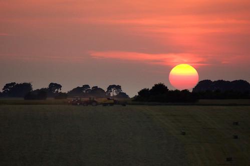 uk light sunset summer sun colour field landscape evening farming july heat hay dust wiltshire haymaking stevemaskell upavon wilts 2013 makehaywhilethesunshines upavo