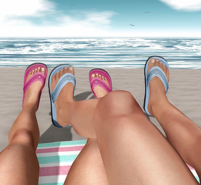 Ispachi Mesh Summer Flip-Flops