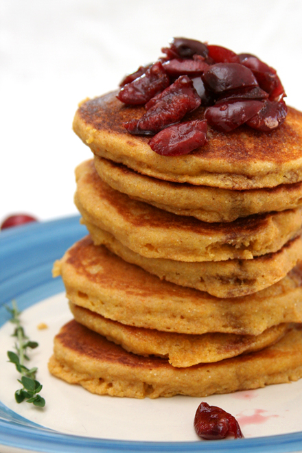 cornmeal cherry pancakes 7