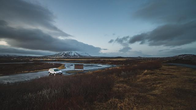 iceland, car, road, roadtrip