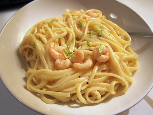 Linguine with Lemon and Prawns