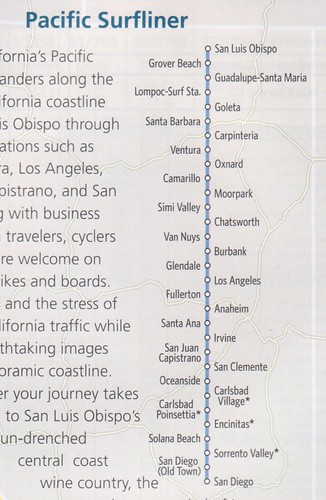 Amtrak Pacific Surfliner 2013 Map