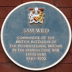 Photo of Sam Wild blue plaque