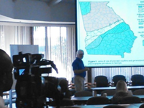 Franklin White, Fox 31, and Gordon Rogers, Flint Riverkeeper at WWALS Water Conference