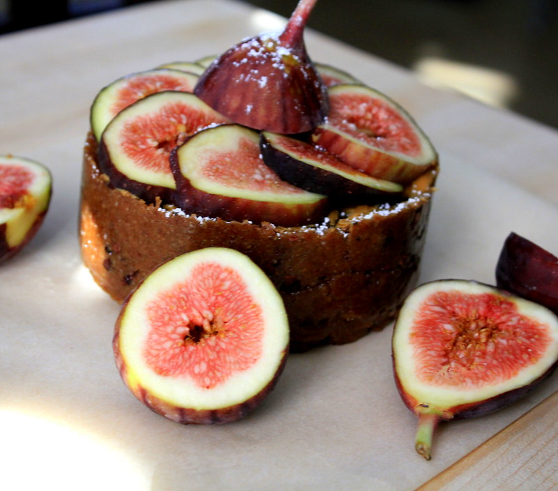 raw fig almond cake