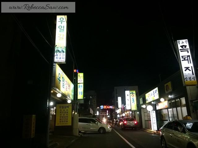review - Jeju Island - Local food - Black Pork Heuk Dwaeji Street