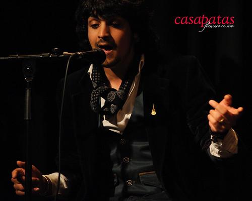 Ismael Fernández cantando en nuestro tablao. Foto: Martín Guerrero