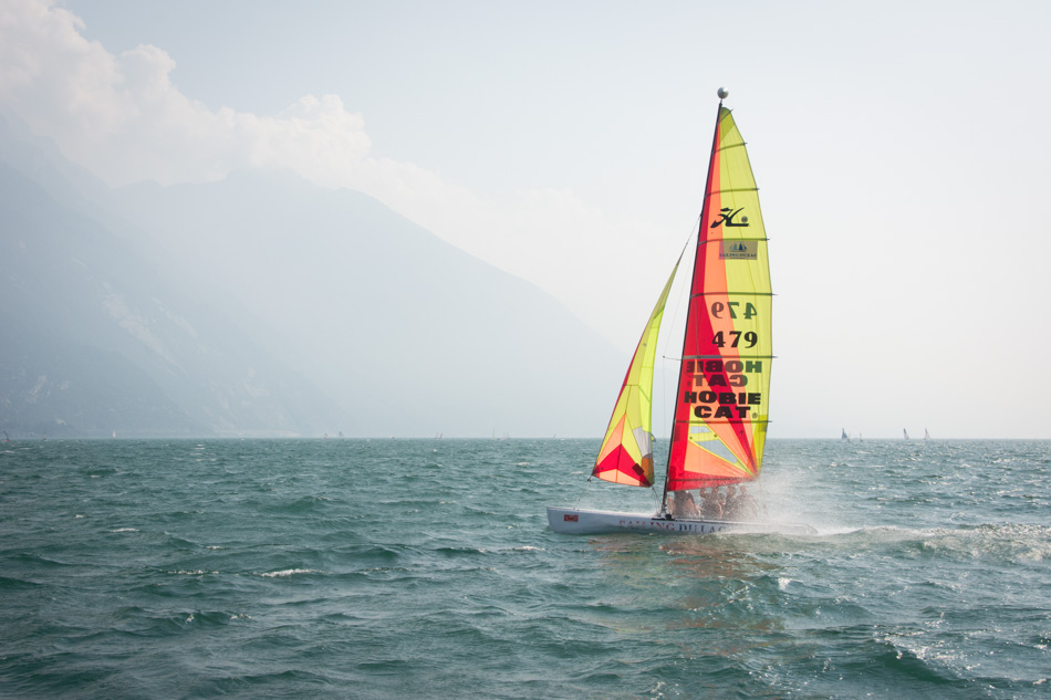 catamaran sailing Lake Garda