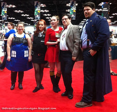 The TARDIS, Amy Pond, Clara Oswin Osgood, the 12th Doctor, and Jack Harkness Cosplay - Gen Con 2013
