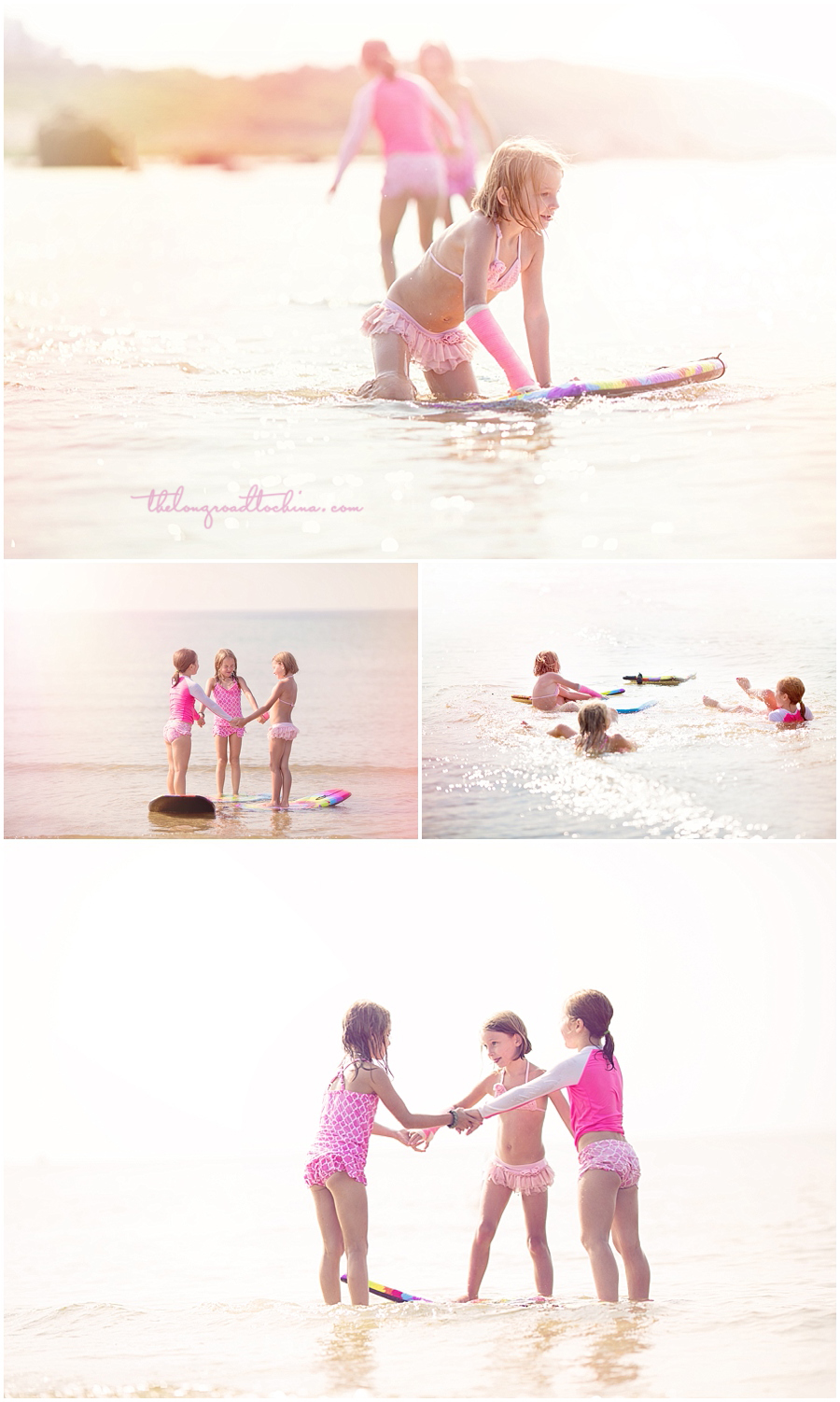 Surfer Girls Sarah and Friends Collage 3