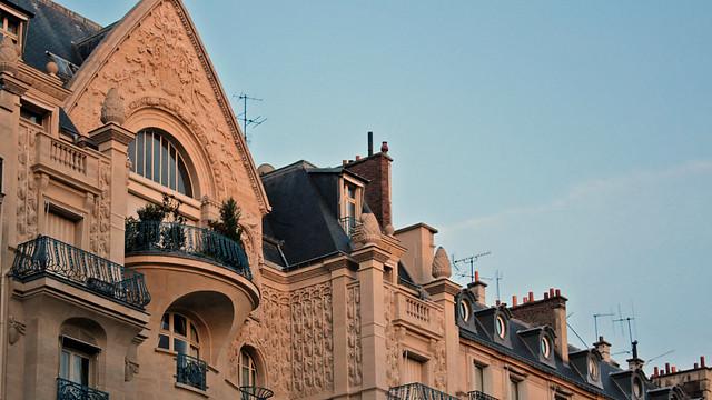 Carved façade