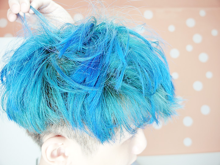typicalben blue hair fades