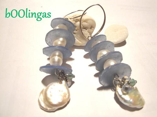 Recuerdos del verano - Summer Memories in Polymer Clay and Pearls