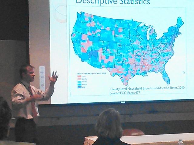 County-level Household Broadband Adoption Rates, 2010