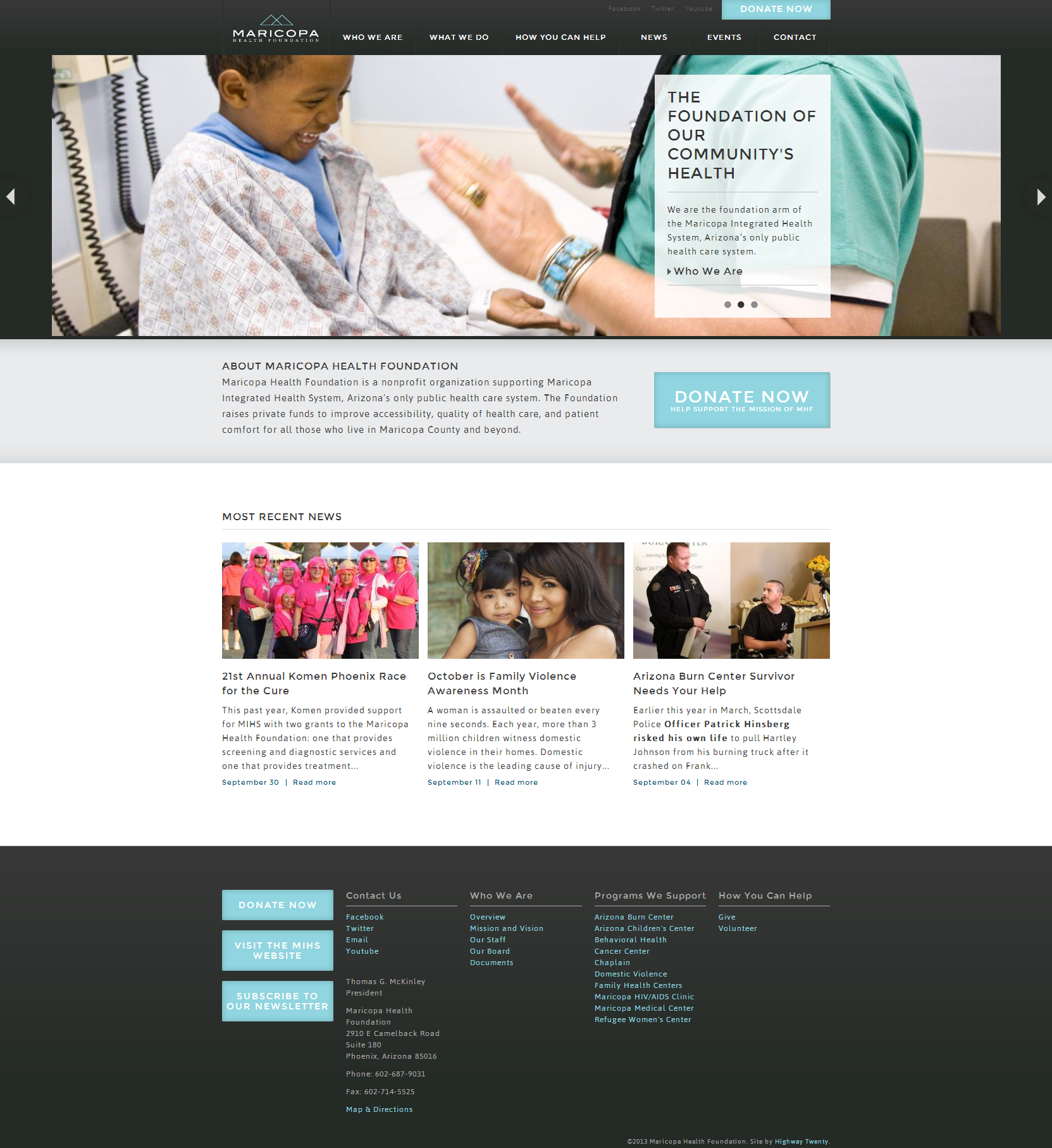 Maricopa Health Foundation Beautiful Health Website