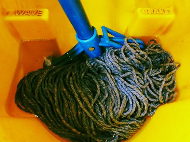 Mop in bucket from Flickr via Wylio