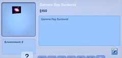 Gamma Ray Sunburst
