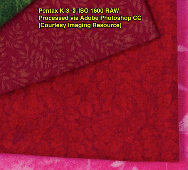 Pentax K-3 @ ISO1600 RAW