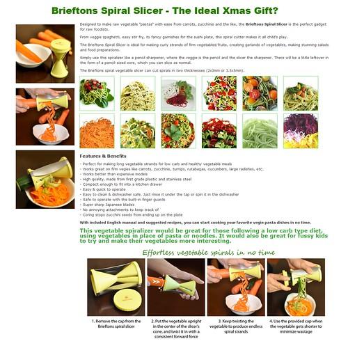 Brieftons spiral slicer promotion