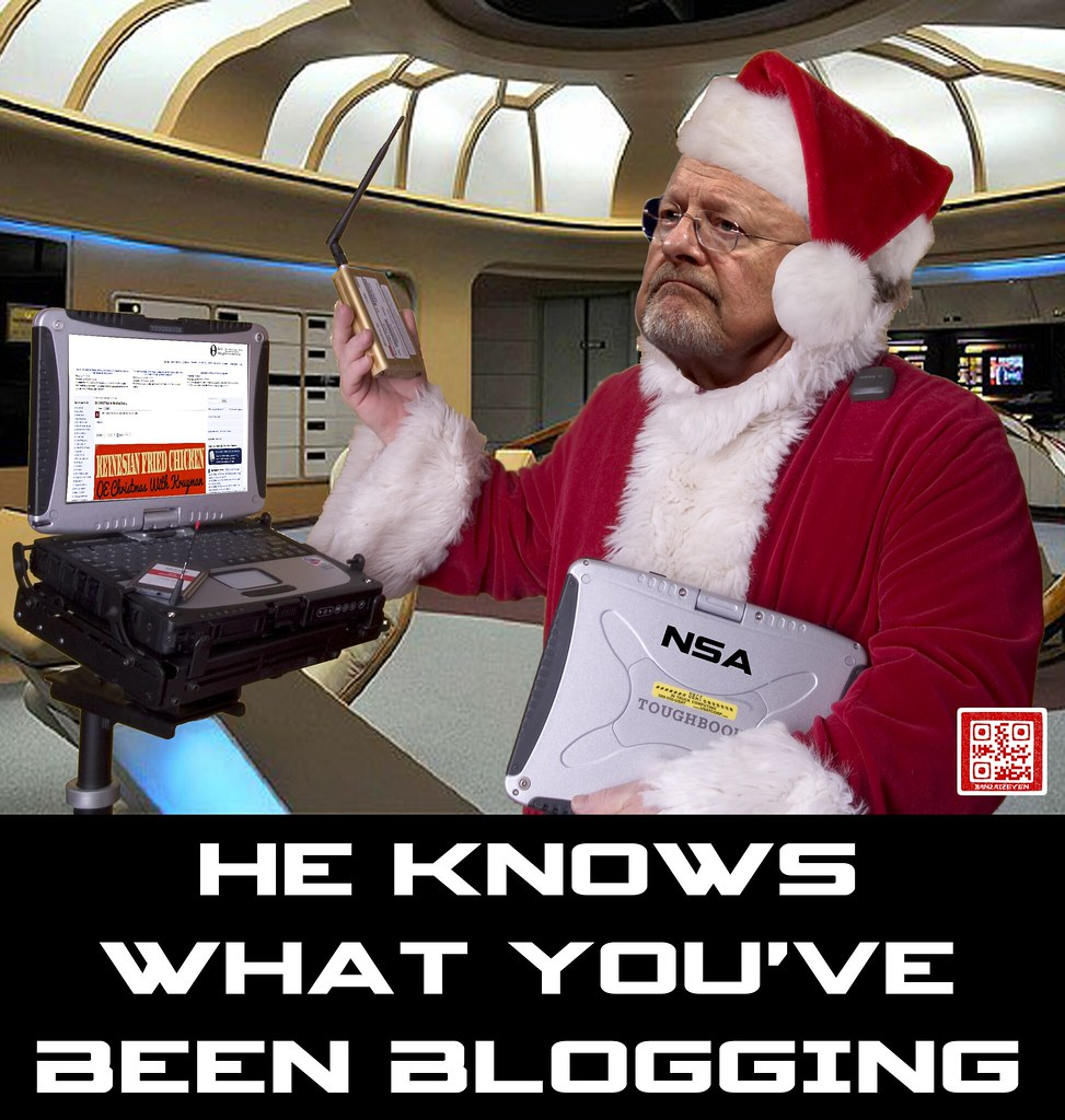 HE KNOWS WHAT YOU'VE BEEN BLOGGING