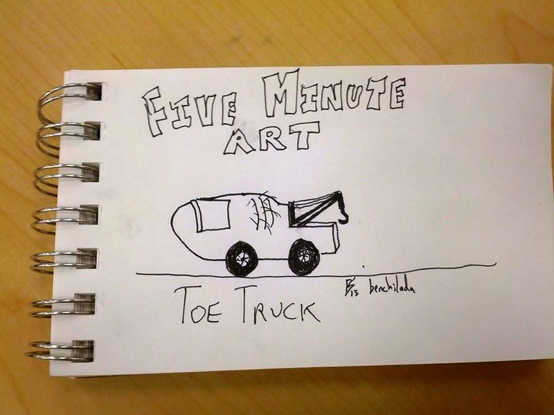 Five Minute Art: Toe Truck