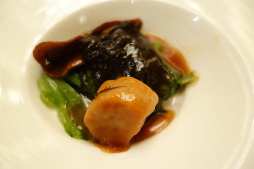 My portion of Prosperity Oyster with Moss and Conpoy - Chinese New Year 2014 Menu at Yan Ting, St. Regis Singapore