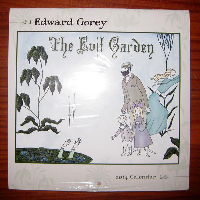 Gorey Evil Garden 2014 calendar, front