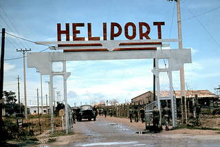 Entrance to the U.S. Army Heliport, known as 'Hotel-3'