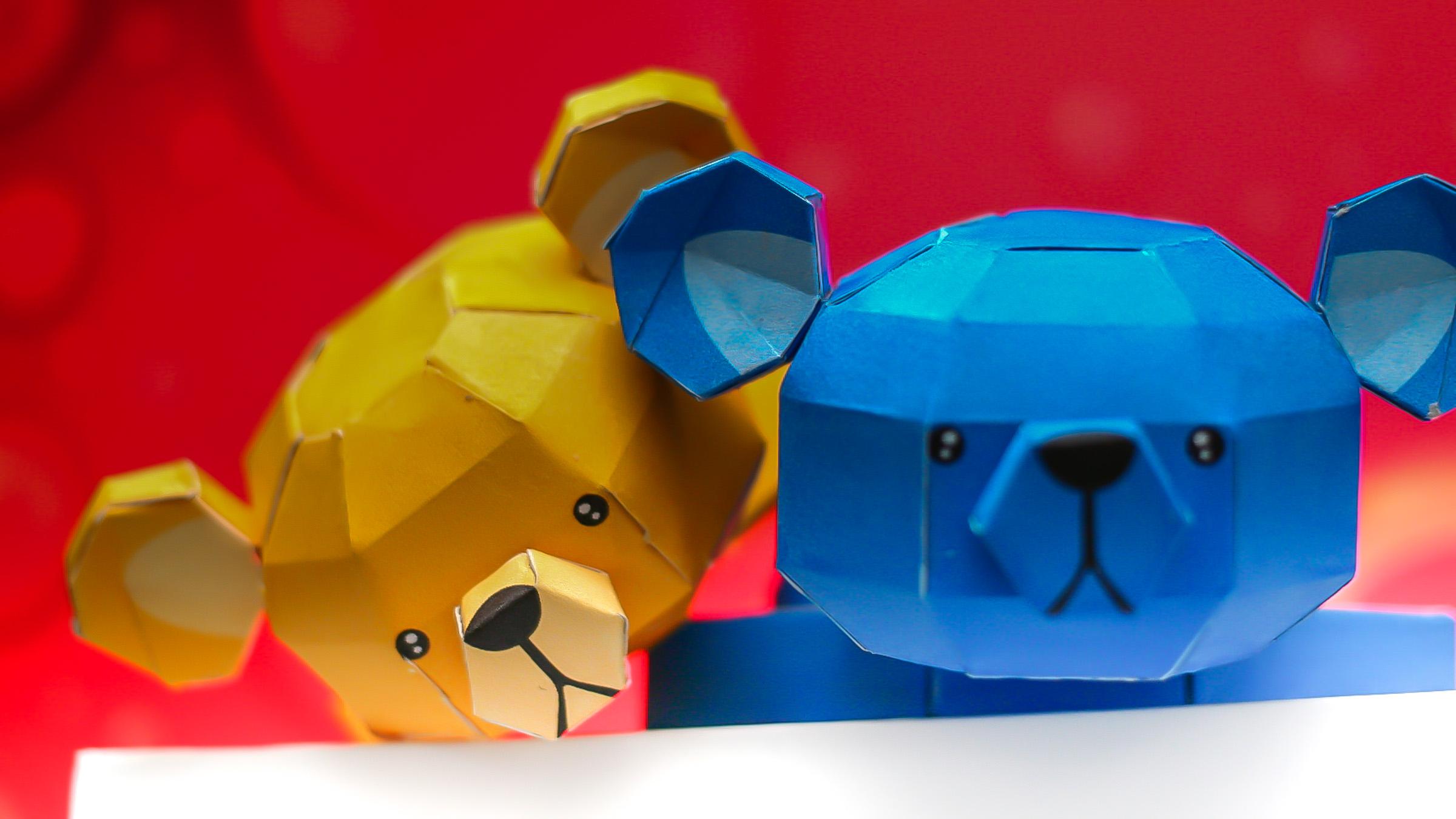 โมเดลกระดาษหมีบ๊อง 001