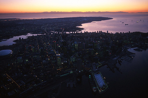 Vancouver at Twilight, British Columbia, Canada