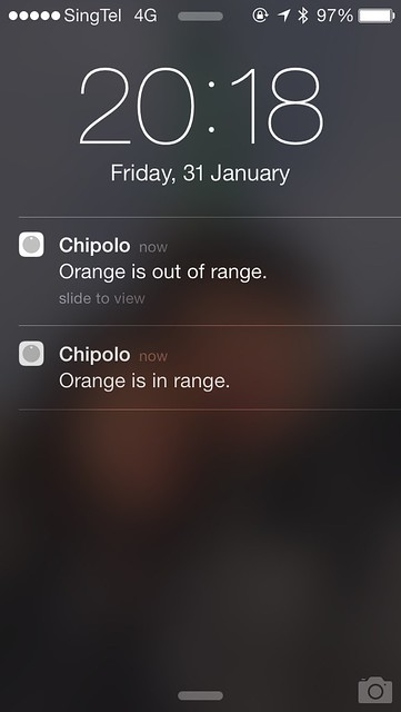 Chipolo iOS App - In & Out Of Range Notifications