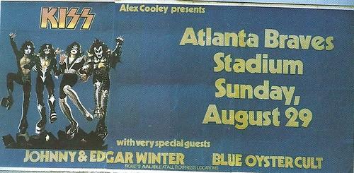 08/29/76 Kiss/ Johnny & Edgar Winter/ Blue Oyster Cult/ Bob Seger & The Silver Bullet Band/ .38 Special @ Braves Stadium, Atlanta, GA