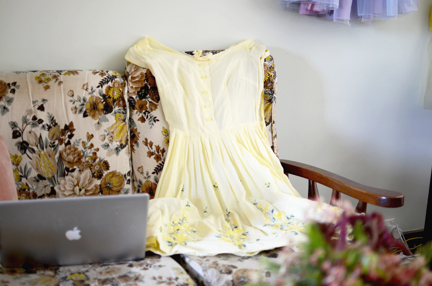 yellow-vintage-embroidery-dress