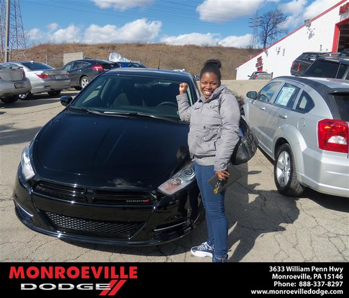 Happy Anniversary to Caquitta Janeil Green-Davis on your 2013 #Dodge #Dart from Nicholas Mckinney  and everyone at Monroeville Dodge! #Anniversary by Monroeville Dodge