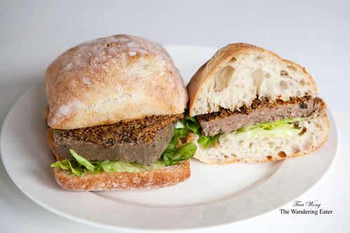 Pheasant terrine sandwich with Cognac mustard