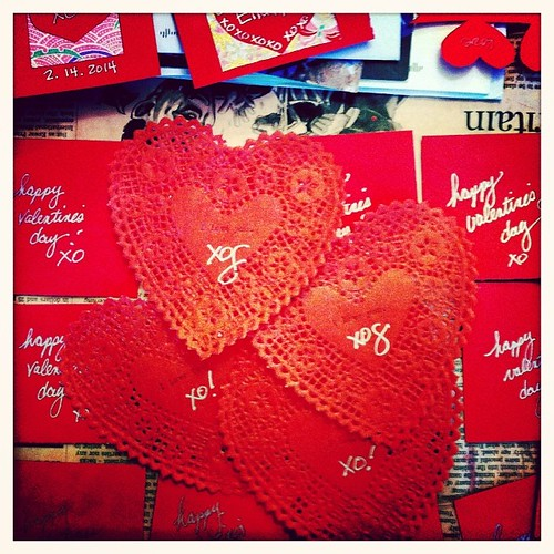 Making #Valentines on a #SnowDay. XoxoS