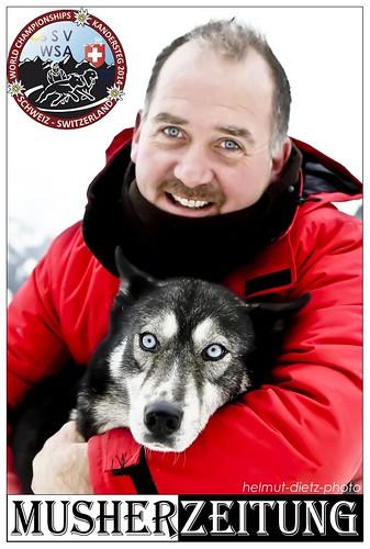 WSA-SChlittenhunde-WM-2014-Kandersteg-Doppelportrait: Musher & Hund