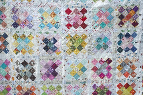 another granny square by a quilt is nice
