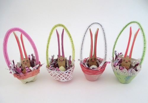 Bunnies in Easter baskets